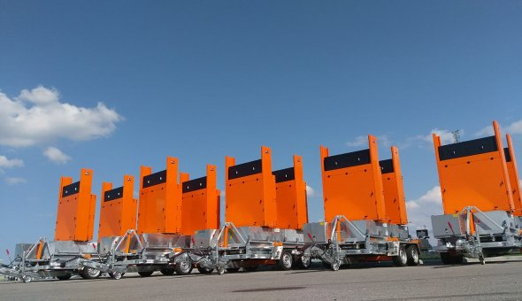 34x Totems to make road closures safer for road workers